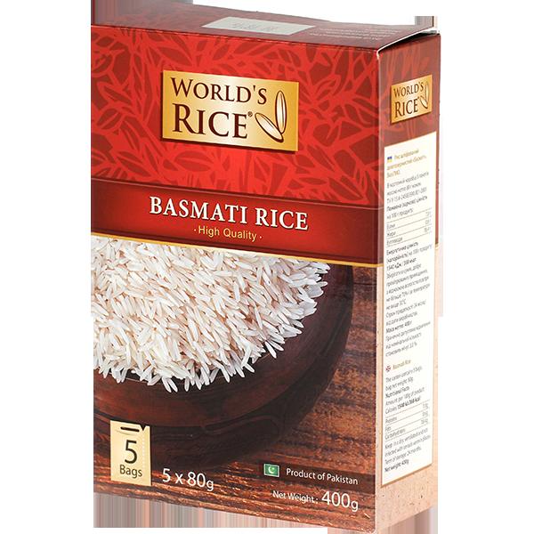 Купить Рис Басмати World#39;s Rice 5х80 г Украина