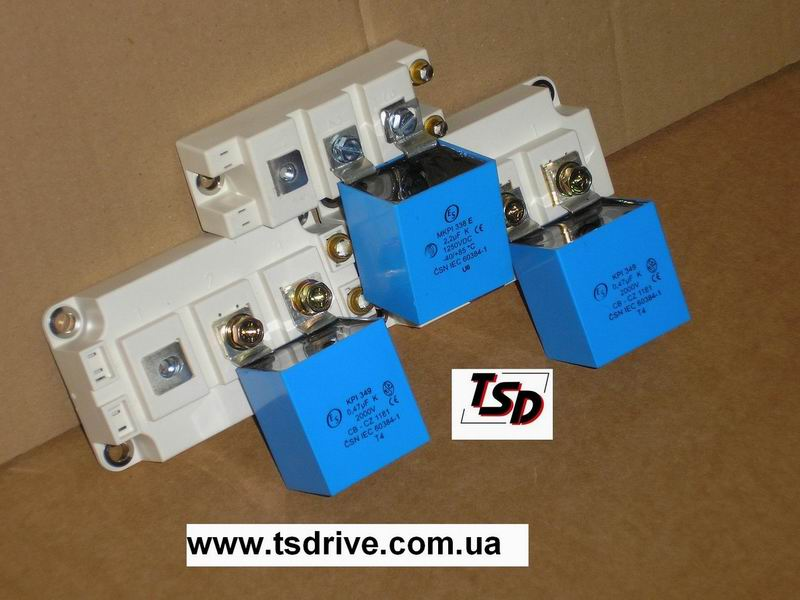 The condenser damping for IGBT modules