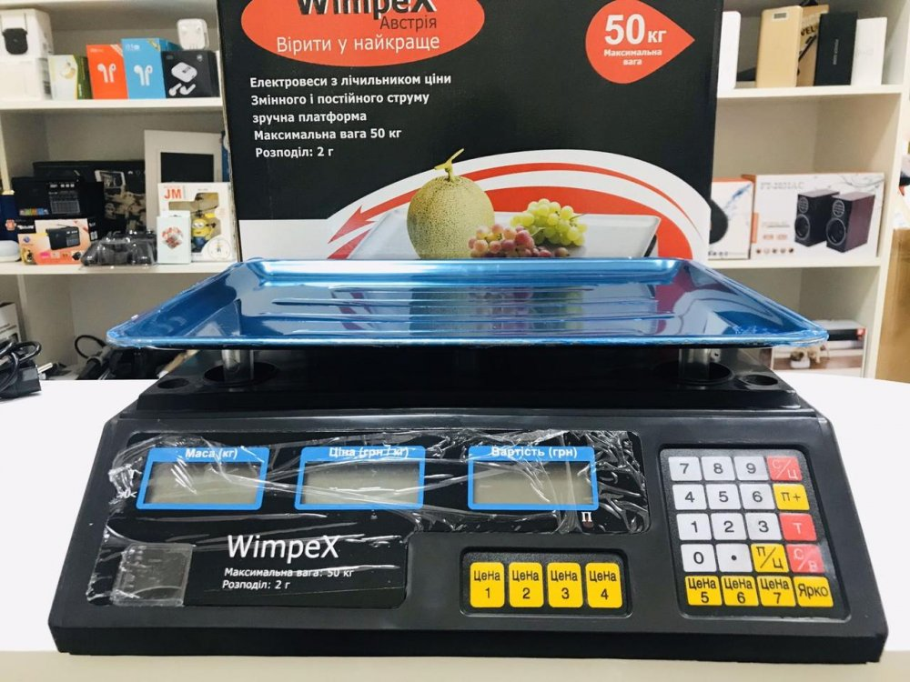 Купить Торговые Весы электронные 50 кг 4V Wimpex sa90331 Черный