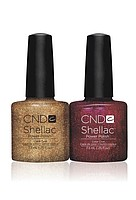 Гель-лак для нігтів Shellac CND Tinsel Toast & Ruby Ritz (2*7.3 ml)