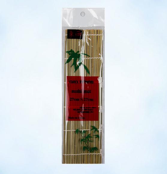 Посуда. Коврик для суши бамбуковый 27 см