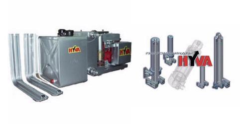 Купить Гидравлические комплекты для грузовиков от HYVA Голландия для систем погрузки и разгрузки на грузовиках и трейлерах для дорожного транспортирования и/или для внедорожного использования.