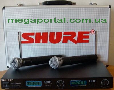 Купить Shure LX88-III 2 радиомикрофона SM58, цифровой дисплей.