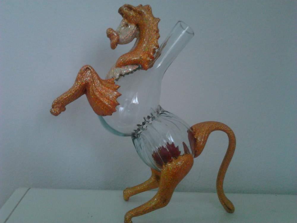 """Купить Бутылка сувенирная для вина, коньяка, водки декорированная """"Конь"""""""