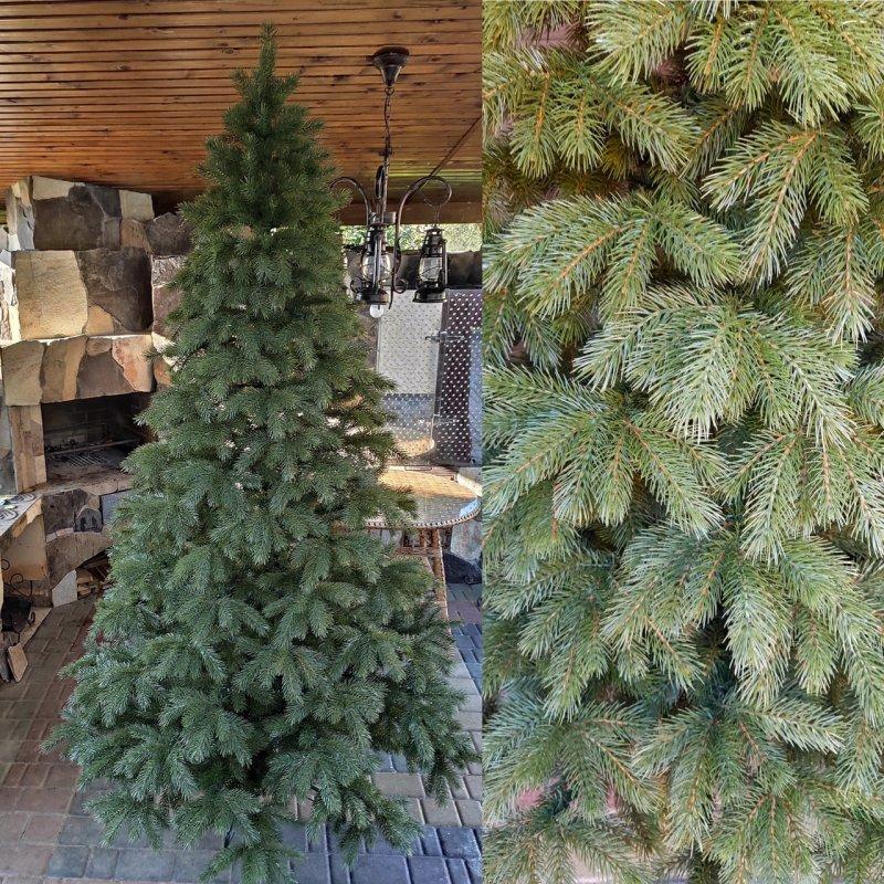 Купить Кедр 2.1м литая елка искусственная ель литая новогодняя искуственная ёлка густая с пластика Штучна лита ялинка