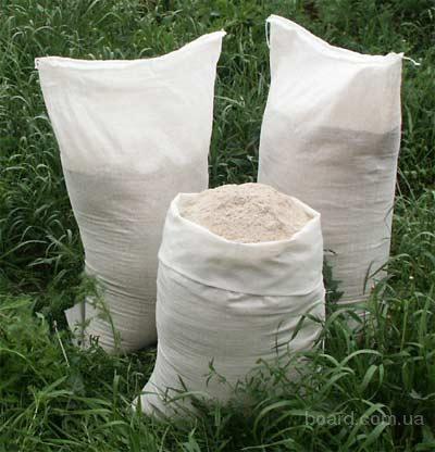 Мел кормовой белый, сухой, высший сорт