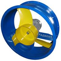 Вентилятор осевой ВО 06-300-6,3 с электродвигателем 1,1 кВт, 1500 об/мин