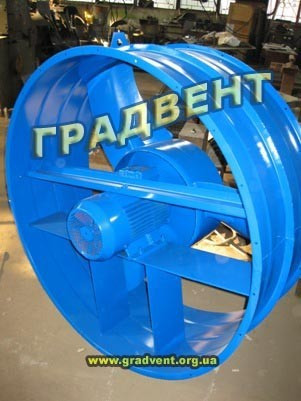 Вентилятор осевой ВО 06-300-12,5 с электродвигателем 7,5 кВт, 1000 об/мин