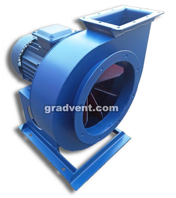 Вентилятор пылевой ВРП-3,15 (ВЦП 5-45, ВРП 100-45 №3,15) с электродвигателем 1,5 кВт, 3000 об/мин
