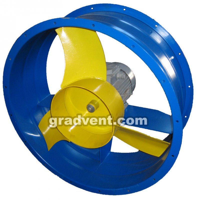 Вентилятор осевой ВО 06-300-3,15 с электродвигателем 0,12 кВт, 1500 об/мин