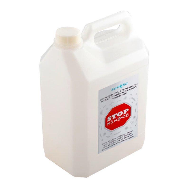 Купить Антисептик санитайзер Sanika 5л, антисептическое средство жидкость для дезинфекции поверхностей и предметов
