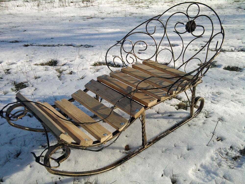 Как сделать санки из железа и дерева - Septikblog.ru