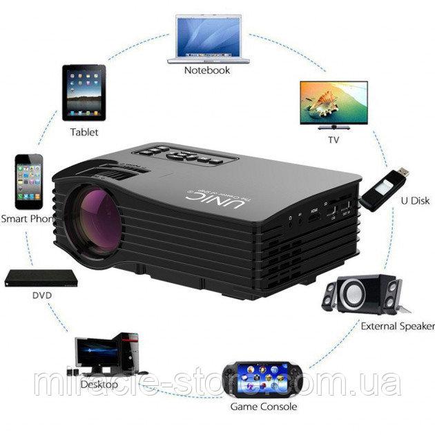Купить Мультимедийный портативный светодиодный проектор UC68 WiFi