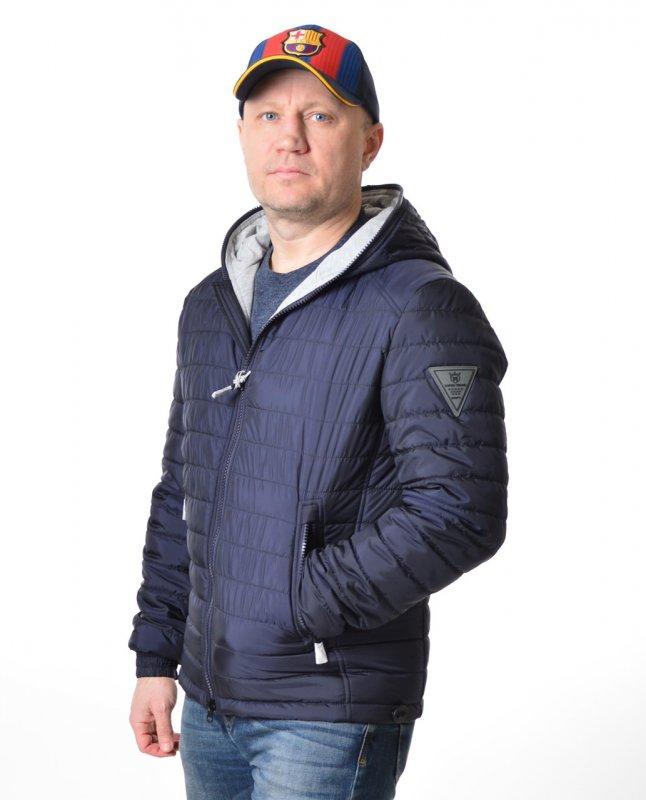 Купить Мужская куртка ветровка Vivacana 67SS101 темно-синяя