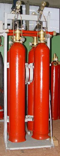 Купить Батарея газового пожаротушения 4-х баллонная с УКУМ и без УКУМ
