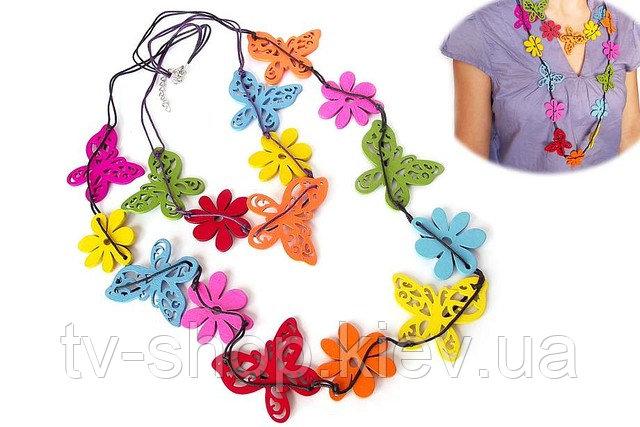 Купить Бусы Бабочки-цветочки