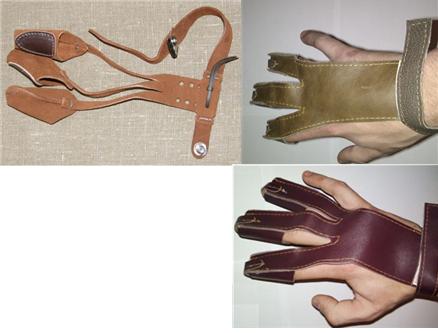 Купить Когти (перчатки), полуперчатка для натяжения тетивы лука кожаные. Днепропетровск.