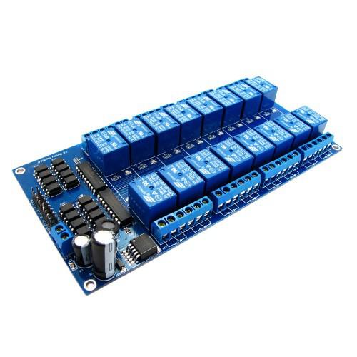 Купить 16-канальный модуль реле 5V для Arduino PIC ARM