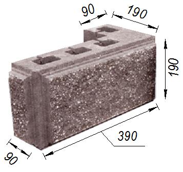 Купить Блок колотый угловой