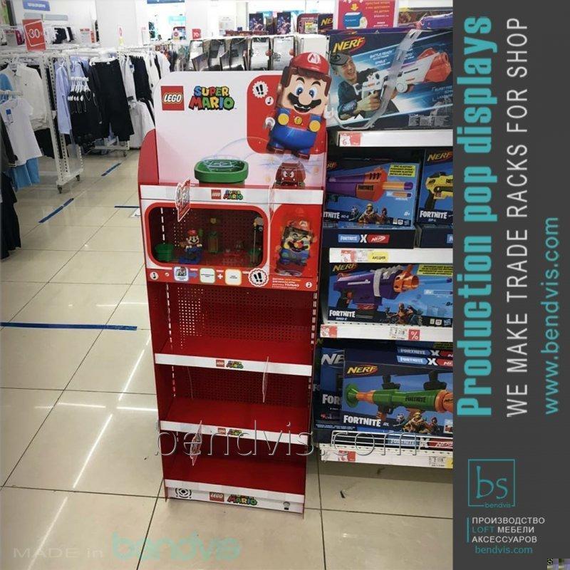 Стеллажи для магазинов игрушек