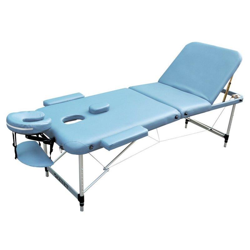 Стол для массажа складной, LIGHT BLUE, размер M, ZET-1049 ZENET