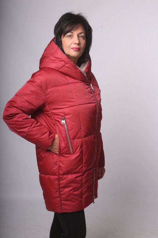 Купить Современная зимняя куртка Batterflei 2021 цвет «ягода» 54