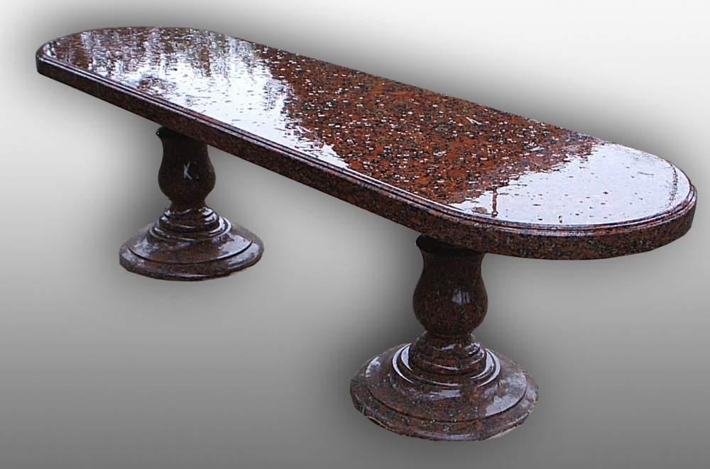 Купить Столы, лавки из природного камня гранита, уличная мебель