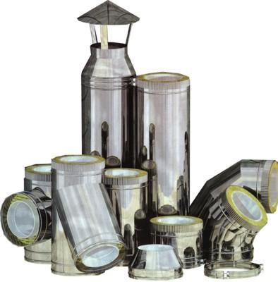 Купить Трубы и элементы из нержавейки для дымоходов