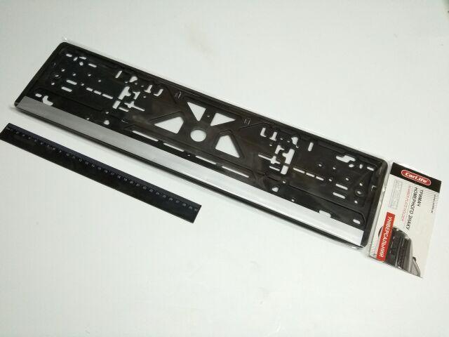 Купить Рамка номерного знака (1 шт.) Carlife (NH03) серая полоса