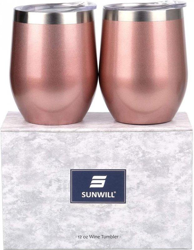 Купить Бокалы для вина из нержавеющей стали SUNWILL (розовые)