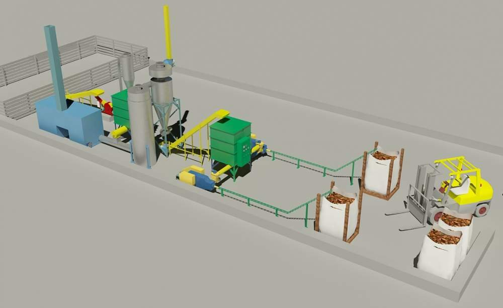 Buy Line of shock and mechanical briquetting of biomass