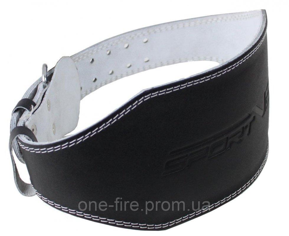 Купить Пояс для тяжелой атлетики с экокожи SportVida SV-AG0065 (S) Black