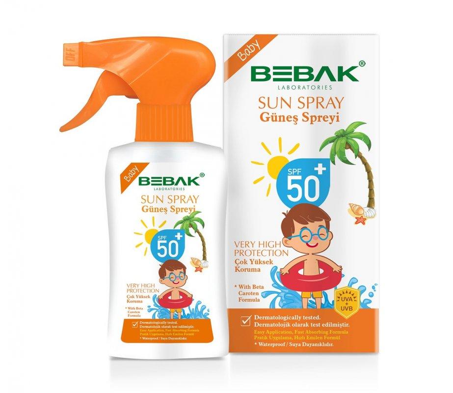 Солнцезащитный спрей Bebak Sun Spray для детей с SPF 50 , 175 мл