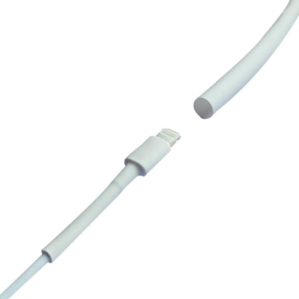 Купить Термоусадка W-1-H 3,0/1,5мм, 1метр, WOER, в упаковке 100 шт белый