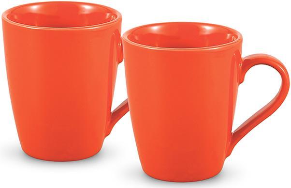Купить Набор 2 керамические кружки Fissman Sunshine 300мл, оранжевые