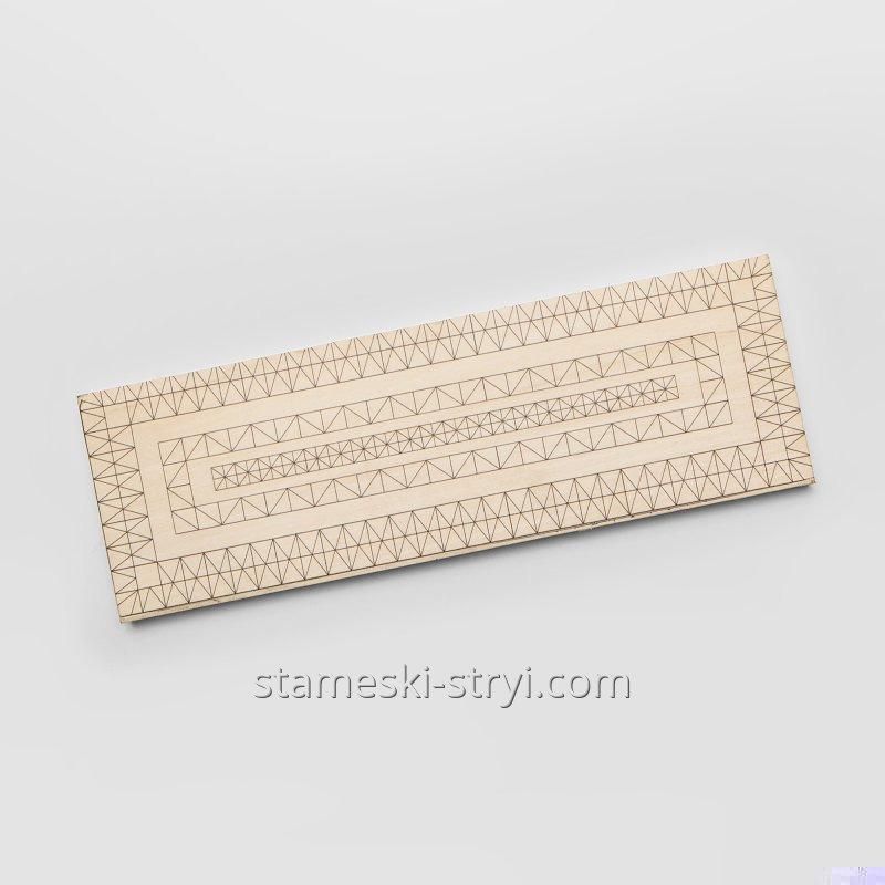 Липовая заготовка доски с чертежем размер 300*100*20 мм для резьбы и декупажа, арт.713010