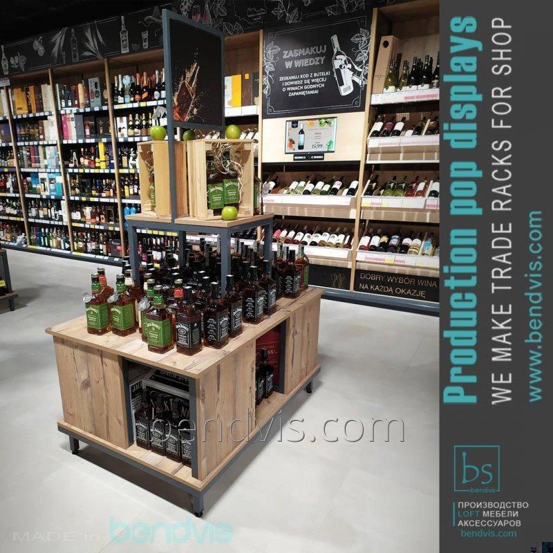 Торговый стенд для алкоголя из ДСП