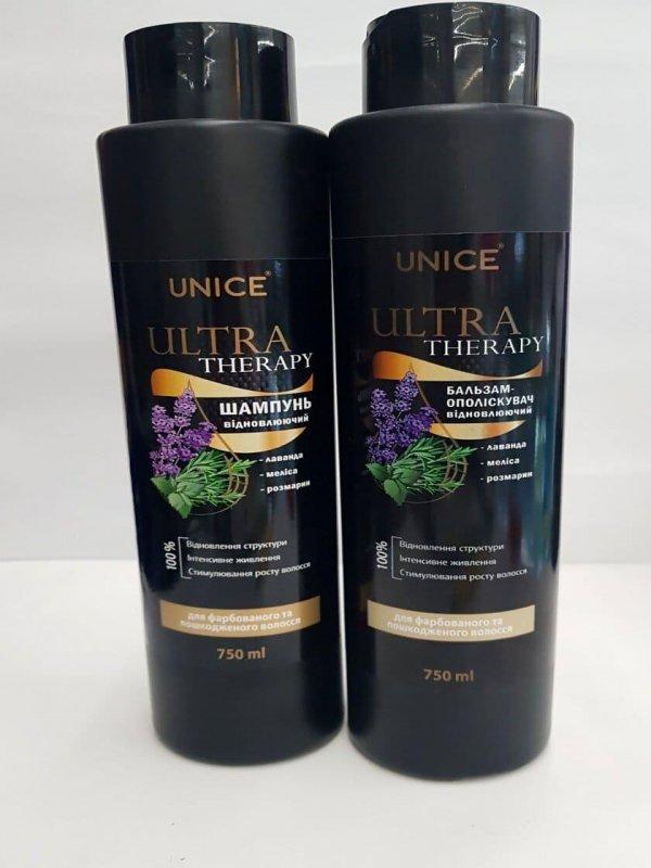 Бальзам для окрашенных и поврежденных волос Unice Ultra therapy + Шампунь для окрашенных волос Unice Ultra