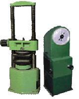 Купить Испытательный пресс ПСУ-50 (усилие 50 т.с.) для статических испытаний стандартных образцов стройматериалов на сжатие, а также испытание кирпича на поперечный изгиб.