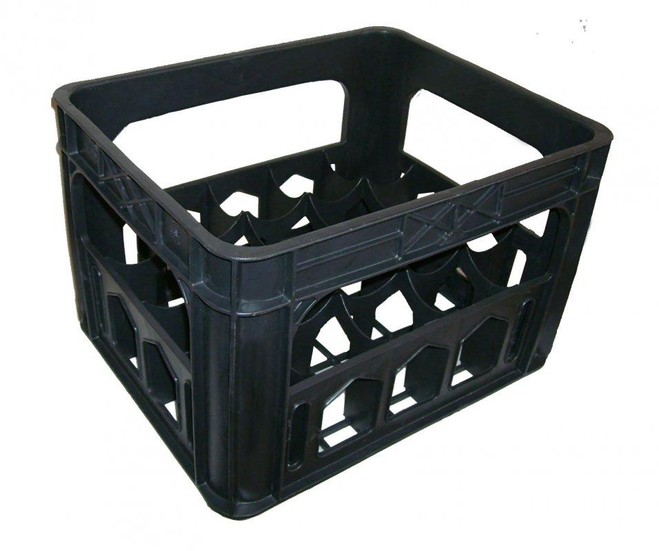 Ящик пластиковый для стеклянных бутылок 20шт. 420x340x275 ячейка 80х80