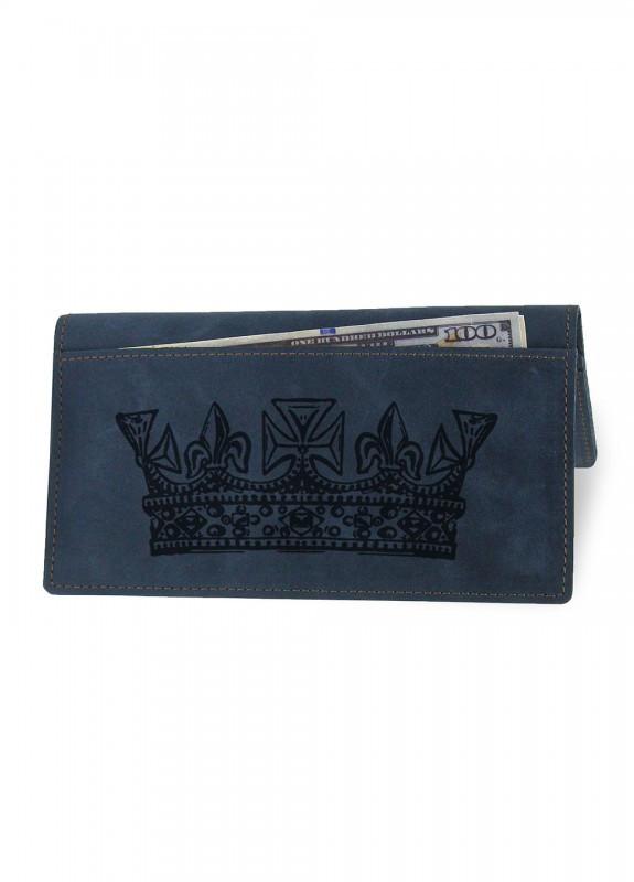 Купить Портмоне Король синий подарки на день рождения