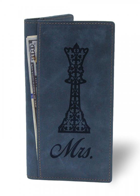 Купить Портмоне Миссис синий подарки на день рождения