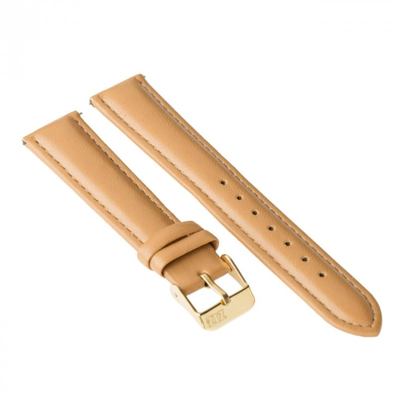 Купить Ремешок для часов ZIZ (карамельно - коричневый, золото) оригинальный подарок на день рождения