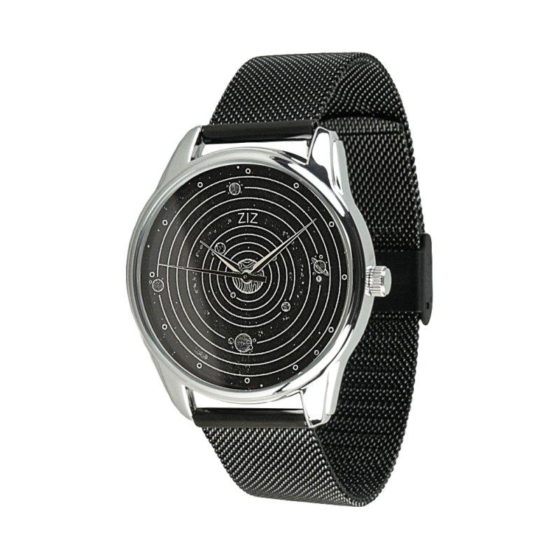 Купить Часы ZIZ Планеты (ремешок из нержавеющей стали черный) + дополнительный ремешок подарки на день рождения