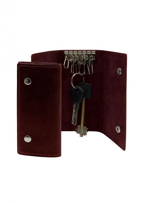 Купить Ключница кожаная на кнопках Бордо подарки на день рождения