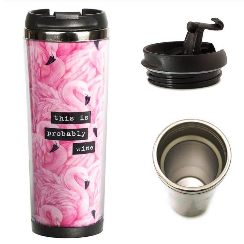 Купить ТермоЧашка ZIZ Фламинго подарок на день рождения