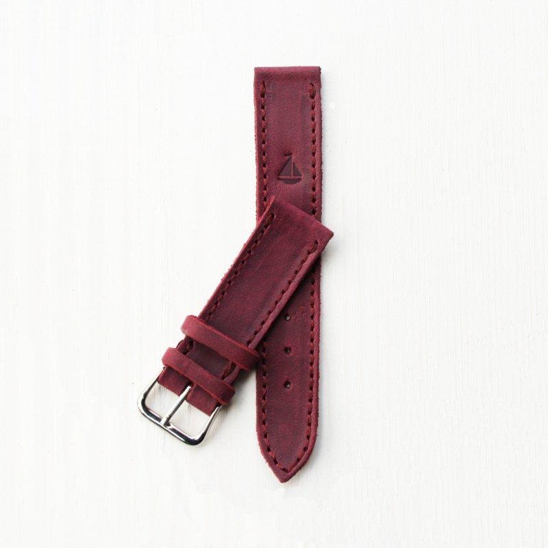 Купить Кожаный бордовый ремешок для часов оригинальный подарок на день рождения