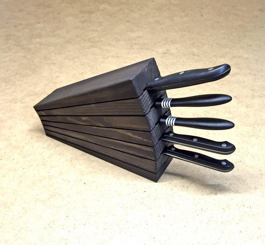 """Купить Подставка для ножей """"Орисаба"""" венге Подарок на Новый год 2021"""