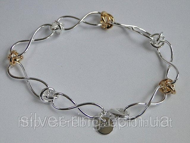 Купить Подарок для девушки - браслет с позолоченными элементами