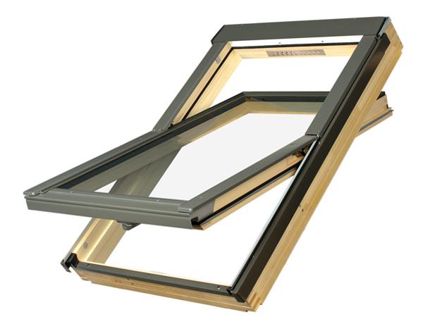Купить Мансардное окно FAKRO FTS-V U4 со среднеповоротным открыванием